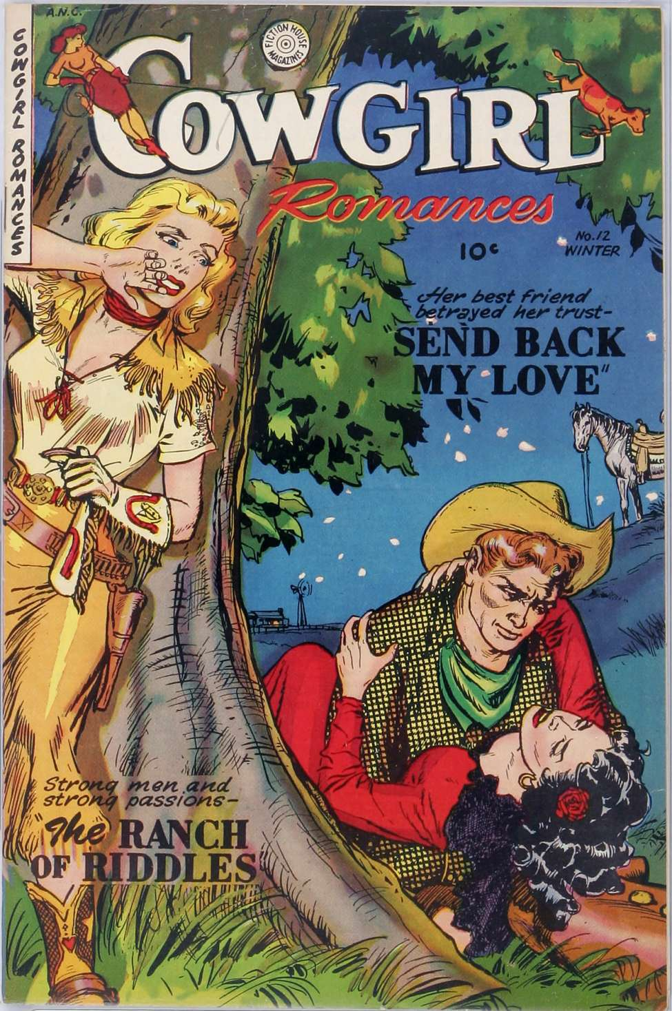 Comic Book Cover For Cowgirl Romances 12