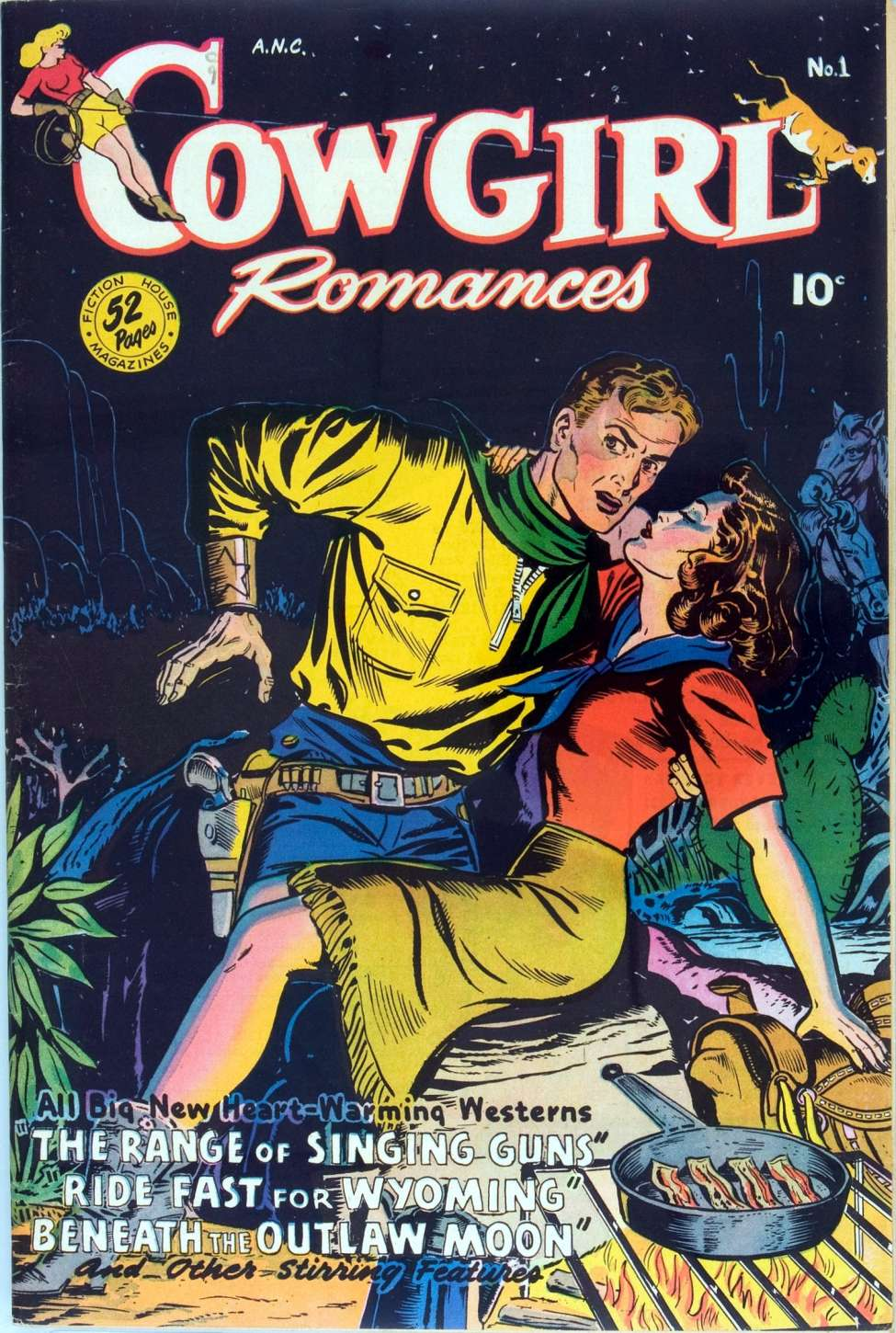 Comic Book Cover For Cowgirl Romances 01